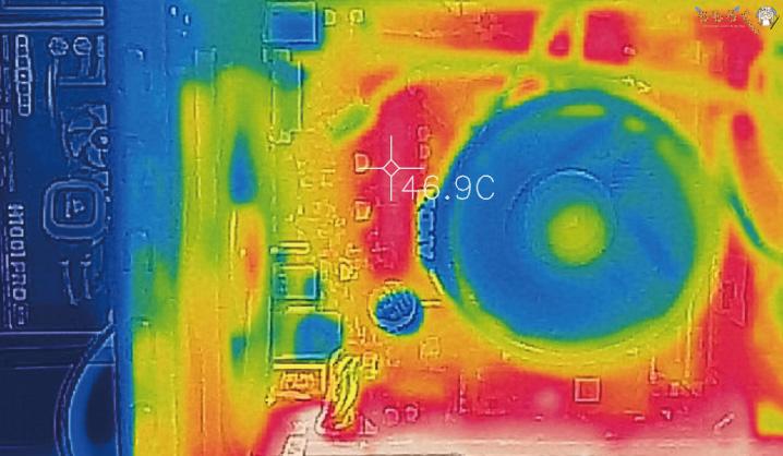 GALLERIA RV5の温度(サーモグラフィー)