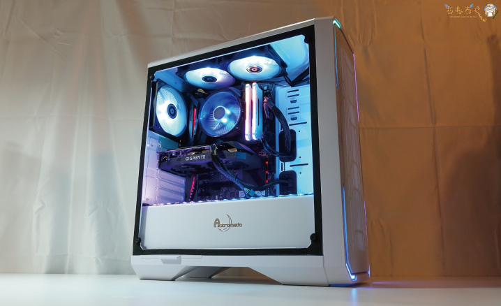 Astromeda(White)をレビュー(PCケースのLED機能)
