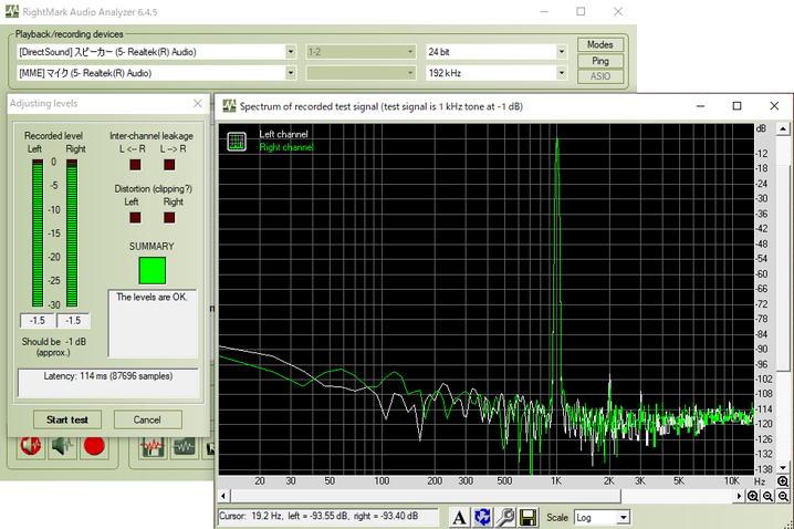 Realtek ALC1200 + ESS Sabre 9018のオーディオ性能