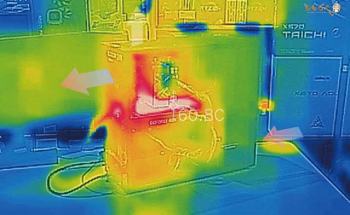 ガレリアXFのエアフローと温度(サーモグラフィー)
