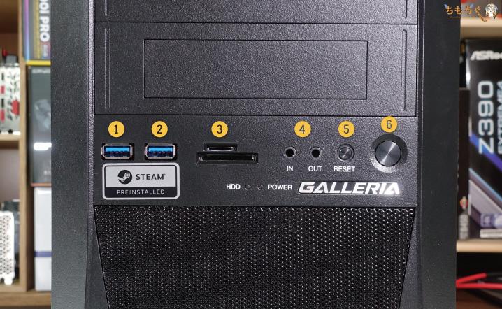 ガレリアXFをレビュー(インターフェイス)