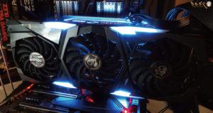 MSI RTX 2080 SUPER GAMING X TRIOをレビュー(LEDライティング機能)