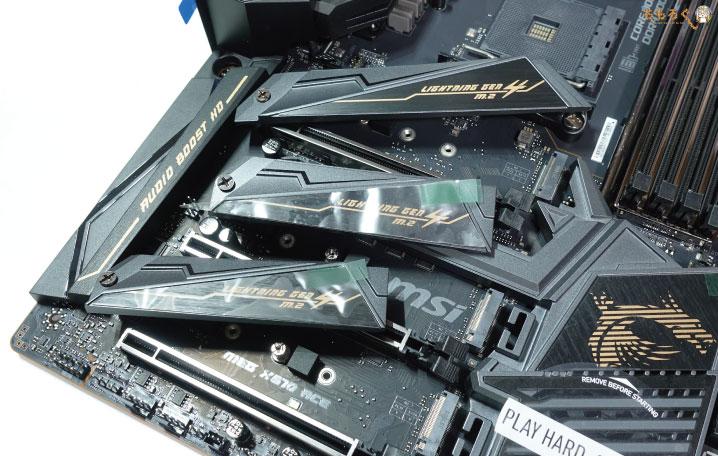 MSI MEG X570 ACEをレビュー(M.2ヒートシンク)