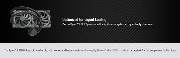 AMDは公式に水冷クーラーを推奨