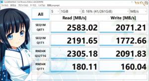 ストレージ性能(Core i9 9900K)