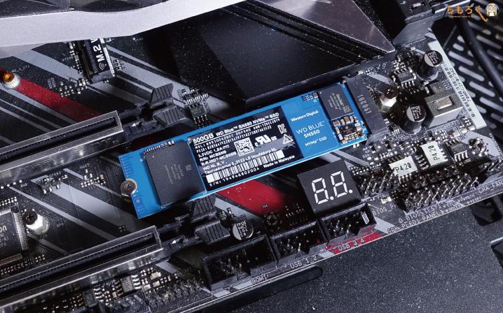 WD Blue SN550のテスト環境