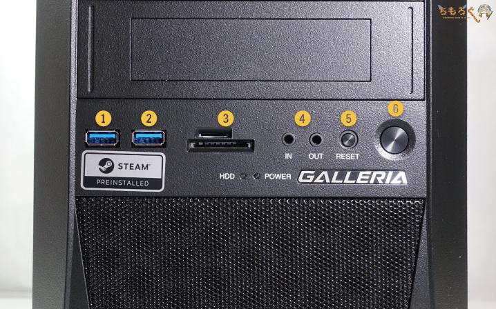 ガレリアAXVを実機レビュー(インターフェース類)