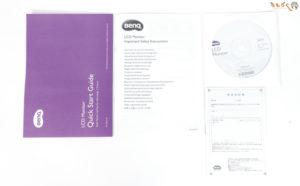 BenQ GL2480をレビュー(付属品)