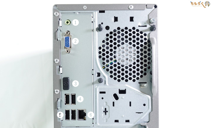 Lenovo IdeaCentre T540 Gamingをレビュー(インターフェイス)