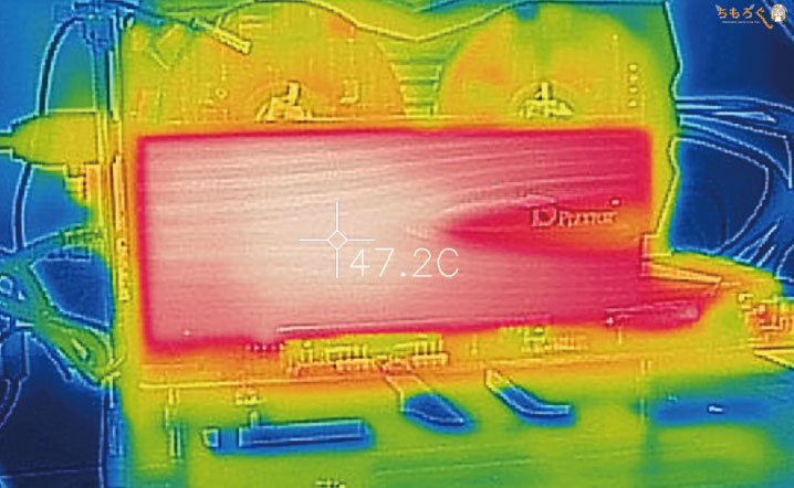 Plextor M9P Plusをレビュー(サーモグラフィカメラで表面温度)