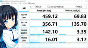 Seagate One Touch SSDをレビュー(Crystal Disk Mark)