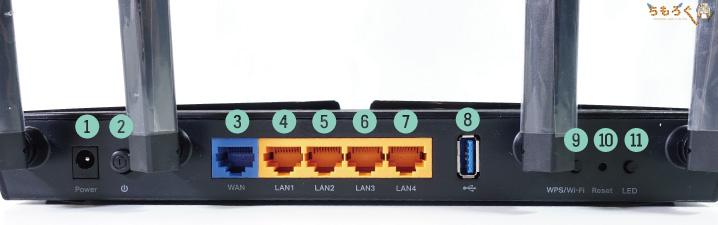 TP-Link Archer AX50(AX3000)をレビュー:インターフェイス