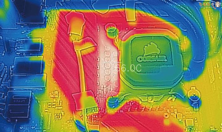 ASUS ROG STRIX Z490-E GAMINGのVRMフェーズ温度