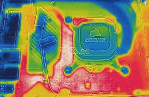 ASRock Z490 TaichiのVRMフェーズ温度を測定