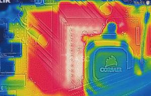 ASUS ROG STRIX B550-E GAMINGをレビュー:VRMフェーズ温度を計測