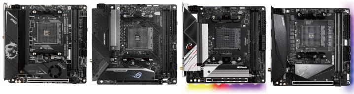 主要4社のB550(Mini-ITX)マザーボード