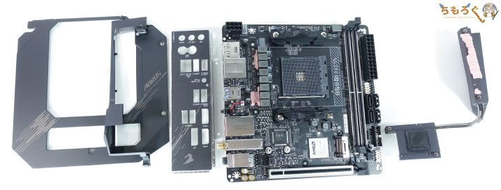 Gigabyte B550I AORUS PRO AXをレビュー:基板コンポーネントをチェック