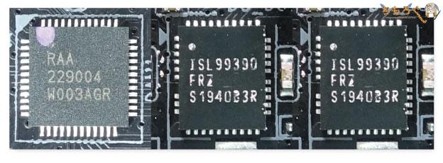Gigabyte B550I AORUS PRO AXをレビュー:VRMフェーズ回路を解説