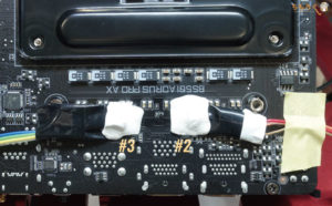 Gigabyte B550I AORUS PRO AXをレビュー:VRM温度を測定