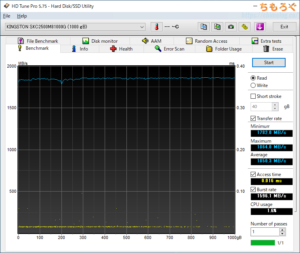 Kingston KC2500 1TBをレビュー(HD Tune Pro)