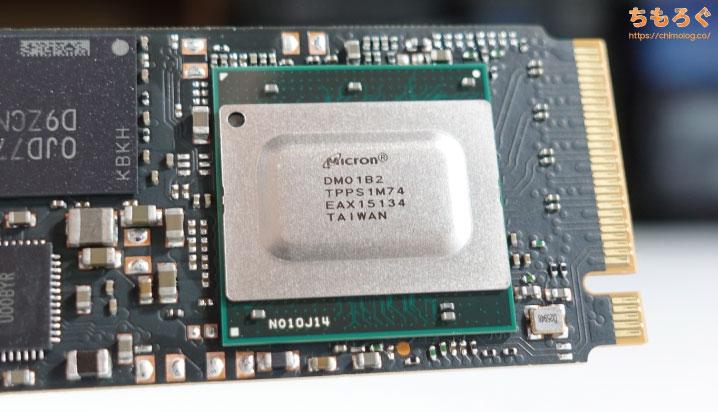 Micron製SSDコントローラ「DM01B2」