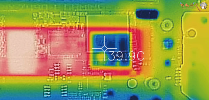 ADATA XPG SX8200 Pro 1TBをレビュー(SSDの表面温度)