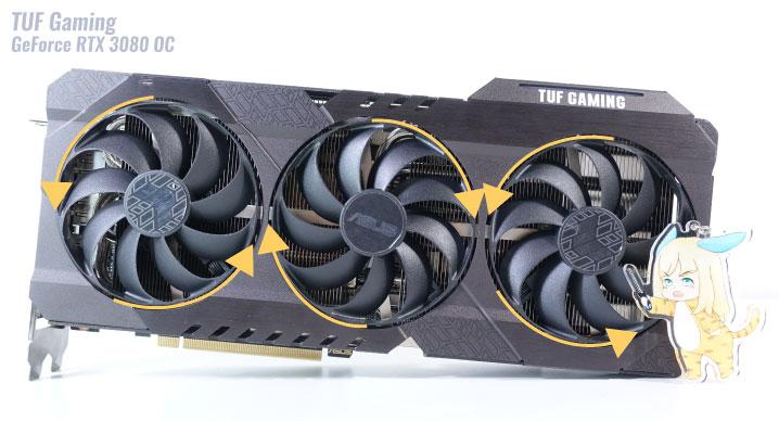 検証に使うグラボ「TUF Gaming GeForce RTX 3080 OC」