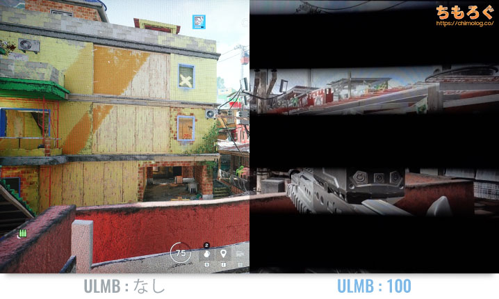NVIDIA ULMB(Ultra Low Motion Blur)の効果をテスト