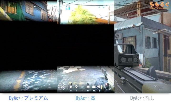DyAc+(Dynamic Accuracy Plus)の画面