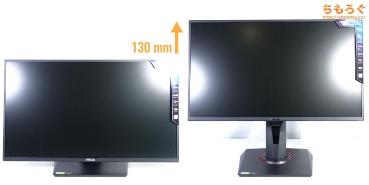 ASUS VG258QRをレビュー(エルゴノミクスをチェック)