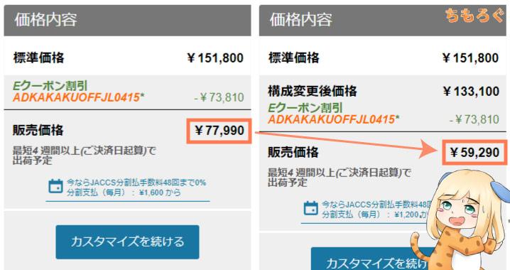 カスタマイズでM75q Tiny Gen2を5万円台まで下げる方法