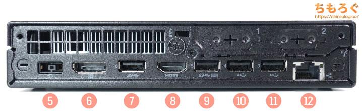 ThinkCentre M75q Tiny Gen2を徹底解説レビュー(インターフェース類)
