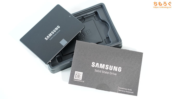 Samsung 870 EVOをレビュー(付属品など)
