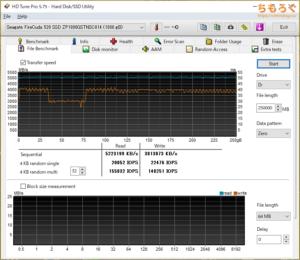 Seagate FireCuda 520をベンチマーク(HD Tune Pro)
