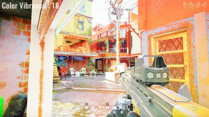 BenQ XL2411Kをレビュー(Color Vibranceの効果)