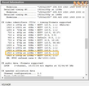ASUS VG259QRをレビュー(リフレッシュレートの対応状況)