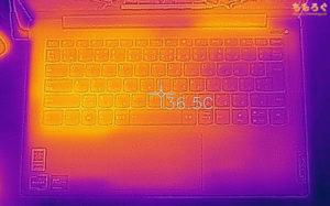 IdeaPad Slim 550 14(サーモグラフィカメラで表面温度)