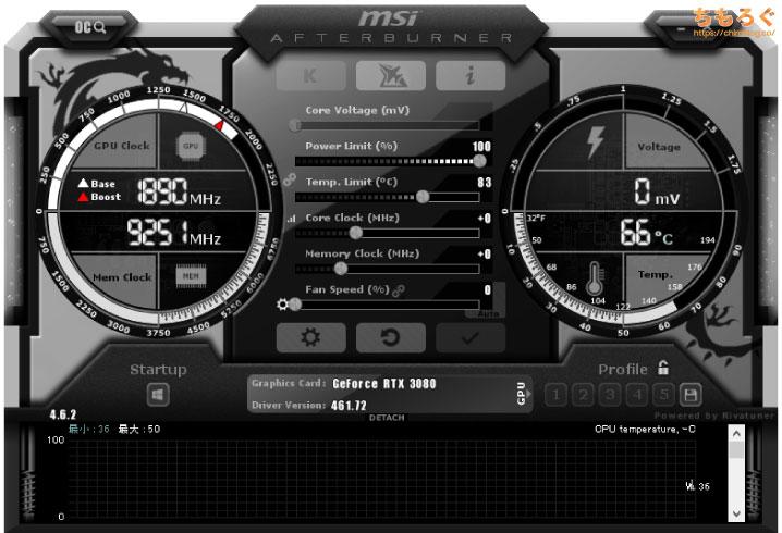 MSI Afterburnerでマイニング性能を改善する