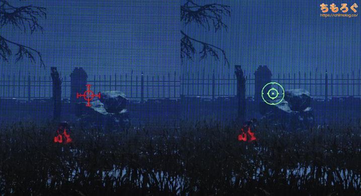 VG259QRのGamePlus機能で照準を表示
