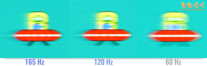 ASUS VG259QRをレビュー(120~165 Hz動作をチェック)