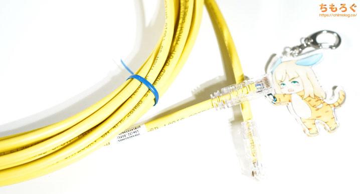 パンドゥイット製のCAT6A(UTP)ケーブル