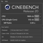 Yoga Slim 750i Carbon(CPU性能をベンチマーク)