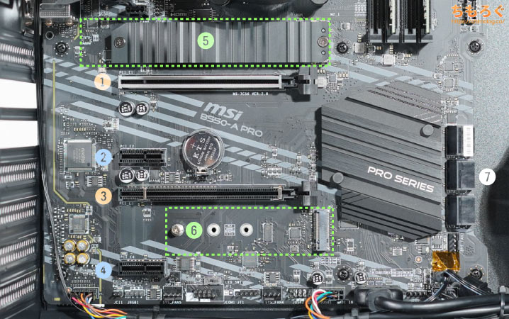 G-GEAR powered by MSI シリーズを徹底解説レビュー(マザーボードの拡張性)