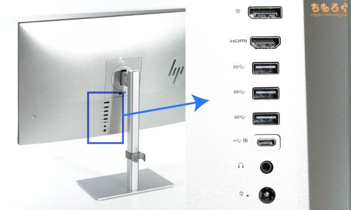 HP U28 4K HDR ディスプレイをレビュー(インターフェイス)
