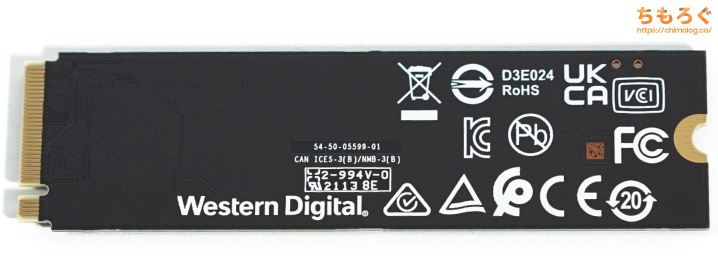 WD Black SN750 SEをレビュー(基板コンポーネント)